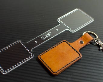 """2.25"""" Leather Keychain Template"""