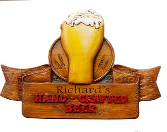 Hand Crafted Beer Personalized Sign