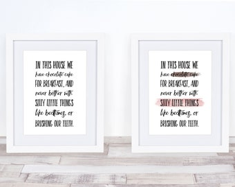 Practical Magic In This House Aunts Witches Quote Art Farmhouse Calligraphy Watercolor Brush Stroke Printable Instant Download Home Decor