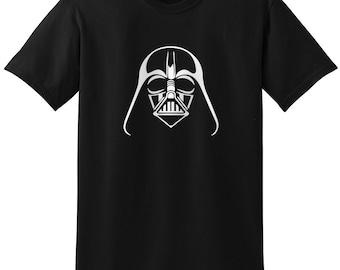 Star Wars Inspired Darth Vader Helmet Black Design 1 Gray Grey T-Shirt T-Shirts Tops Women Men Boys Girls Ladies Unisex Fit