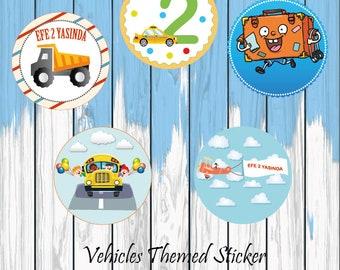 Vehicles Themed Sticker