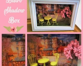 Spring Bistro- Small Shadowbox