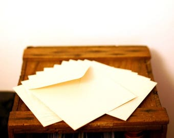 Set of 12 envelopes recycled 15 x 15 cm