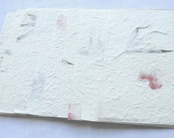 "10x Dried Pressed  Leave or Flower Handmade Mulbery paper - Scrapbook, Card 8 1/2"" x 5 3/8"" yhp003"