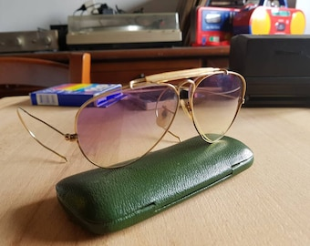 60's vintage Ray Ban 1/30 10k go  Bausch & Lomb U.s.a aviator made in usa