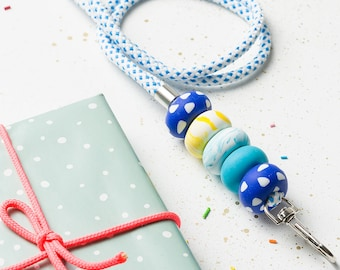 Colorful Lanuard, Christmas gift, Lanyard with id holder, Teacher lanyard, Necklace lanyard, ID Badge holder, Key lanyard, ID holder Key fob
