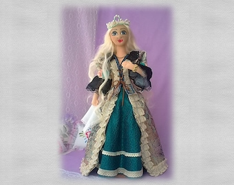 """Art doll. OOAK textile handmade doll - """"Egle - the queen of the ANCIENTS"""""""