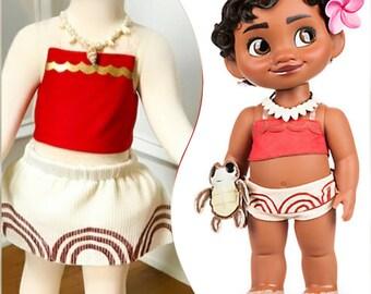 Baby Moana outfit baby Moana costume baby Moana dress baby Moana dress up as Moana Moana Necklace infant Moana