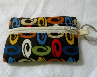 Coin Purse - Modern Change Purse - Small Zippered Pouch - Padded Earbud Case