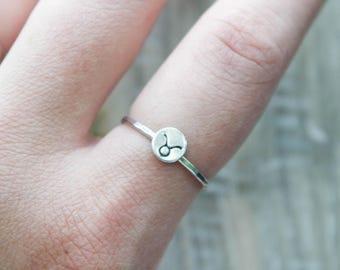 Star signe Stacking Ring | Boucles d'oreilles constellation | Bijoux signe de Star | Bijoux anniversaire | Bague de fiançailles | Bague de mariage | Cadeau
