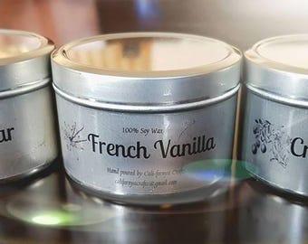 4oz Handmade Soy Wax Candles