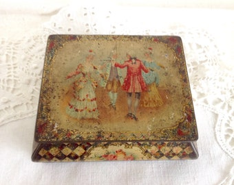 Vintage Miniature Tin Rowntree & Co. Ltd. Beautiful French Regency Cocoa Elect Tin