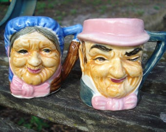 Toby Jug Salt and Pepper Shakers
