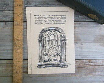 Office Decor, Antique Style Poster, Antique Radio Print, Bedroom Decor,  Retro poster, Room Decor, Housewarming Gift, New Business Gift