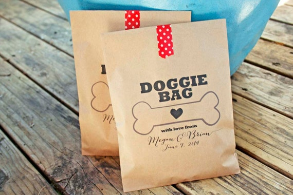 Dog Treat Bags And Ribbons