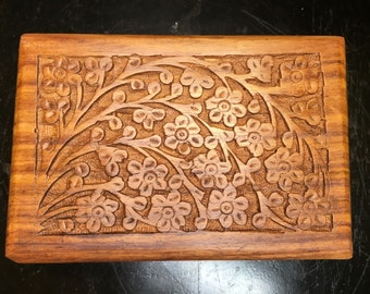 Wooden box 6 x 4 gift box decorative box for Decorative tarot cards