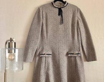 super mod schoolgirl 60s plus size vintage dress - SIZE 16/18/20