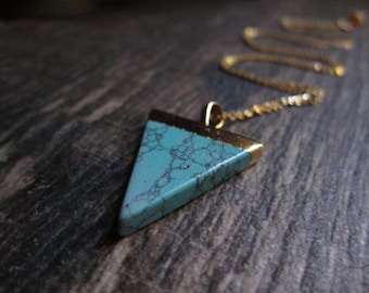 Turquoise Necklace,Turquoise Necklace Gold,Turquoise Arrowhead Necklace,Turquoise Jewelry,Gypsy Jewelry,Ethnic Necklace,Layering,Arrow
