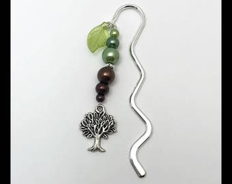 """Bookmark """"tree of life"""" and glass beads"""