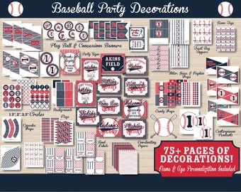 Baseball Birthday - Baseball Decorations - Baseball Party Printable - Baseball Decorations - Sports Party - Sports Birthday - 1st Birthday