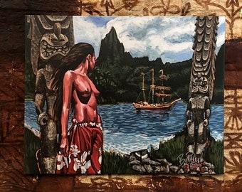 Forbidden Island Limited Edition Archvial Canvas Art Print, item #200