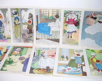 Vintage Storybook Prints, Ready To Frame Prints, Set Of Ten, Collection #1