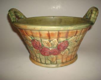 Weller Pottery FLEMISH Basket Roses