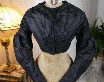 1830 Romantic Period bodice, Biedermeier Bodice, antique dress, antique gown