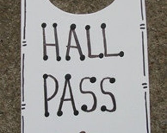 Teacher Gifts Doorknob Hall Pass Hand Painted