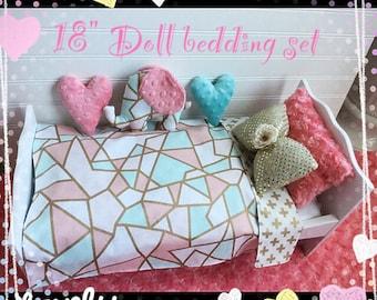 SALE!! American girl doll's Sweet Bedding Set