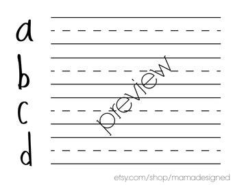 Alphabet Handwriting Worksheets Printable Toddler PreK
