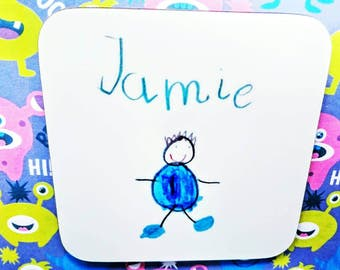 Your child's artwork coaster