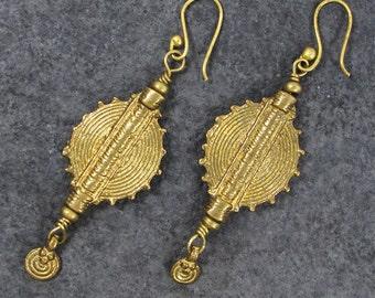 Indian tribal brass earring, boho brass earrings,brass earring,boho earrings,tribal earrings,ethnic earrings,bohemian earrings