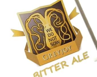 Game of Thrones Greyjoy We Do Not Sow Bitter Ale Coasters,house greyjoy,theon greyjoy,greyjoy fan,greyjoy gift,greyjoy coasters,beer coaster