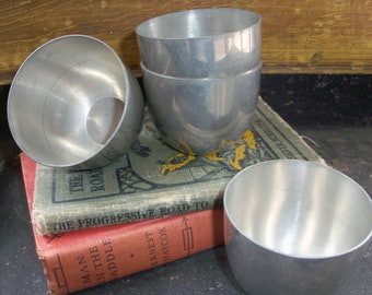 Set of 4 Vintage Stieff Pewter Jefferson Cups P50