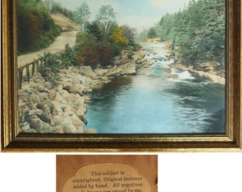 Little River antique hand tinted photo Wallace Nutting