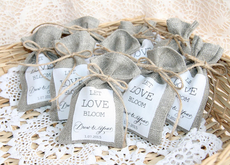 Burlap Favor Bags Wedding Gift Bags Natural Rustic Linen