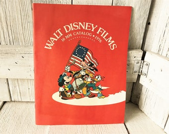 Vintage Walt Disney Films catalog 16mm 1976 animation / free shipping US