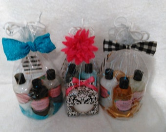 Bath Set - 1 Shower Gel,  1 Lotion, 1 Bath Balm and 1 Small Roll On Body Oil.