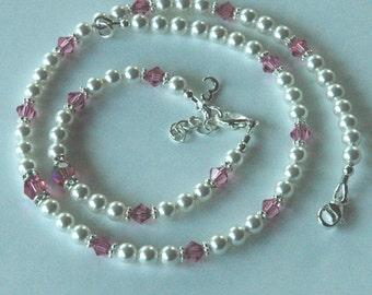 Initial Custom Children Bracelet and Necklace -SET