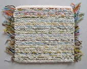 RESERVED for Ana Monge - Pot Holders with fringes - Knitted Squares