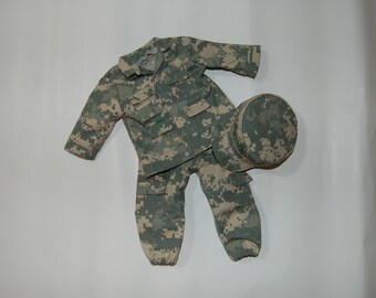 "Army Camo Uniform for 18"" Dolls"