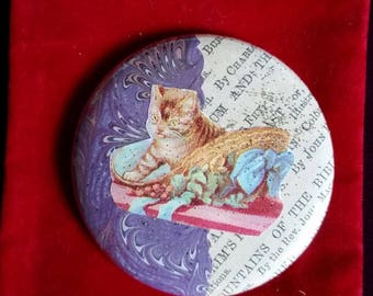 Booklover's Pocket Purse Mirror - with a velvet pouch