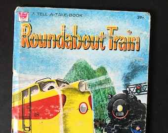 Roundabout Trains, Children's Vintage Book, 1958
