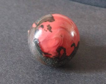 Ring coral pink and copper