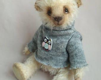 Collectie dragen kunstenaar teddy bear teddybeer Oliver OOAK dragen Toy bear Mohair Bear handgemaakte Teddy speelgoed interieur toy Bear in kleren dragen