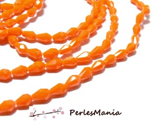 1 strand of approximately 100 beads faceted MINI drop glass 5x3mm ORANGE H114207