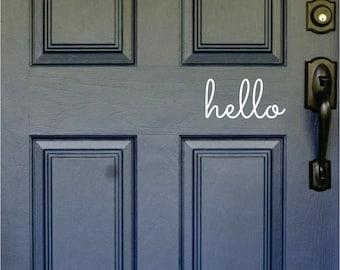 Hello, Front Door Decal, Door Sticker, Hello Door Decal, Teen Door Decal