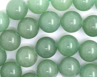 "12mm green aventurine round beads 15.5"" strand 36010"