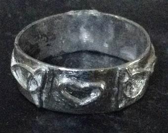 Celtic Heart Sterling Silver Handmade Knotwork Band
